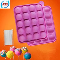 cake pop sticks - Pink Food Safety Silicone Cake Pop Molds Set With Free Sticks Baking Moulds Set Of JSF Silicone