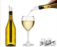 Wholesale NEW Stainless Steel Wine Cooling stick Corkcicle White Red Wine Chiller Replace the Ice Bucke