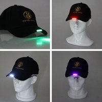 Wholesale Luminescent Cap Outdoor Sports Cycling Cap LED Light Luminescent Baseball Cap Sell Like Hot Cakes
