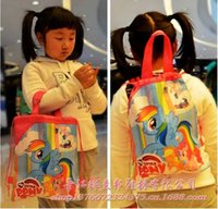 Cheap 2015 new My little pony non-woven kid shopping bag gift bag snack swim bag birthday party storage bag totes handbag backpack TOPB2515 100PCS