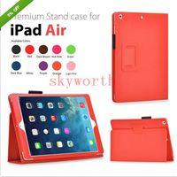 Cheap For ipad pro 12.9 Magnetic Folio Leather Case for ipad 2 3 4 5 6 ipad mini air 2 stand