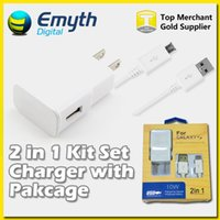 Wholesale 2015 NEW design Output A wall Charger Adapter Micro USB Cable with retail box For Samsung Galaxy S4 S6 Note