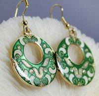 cloisonne earrings - Fashion earrings National wind cloisonne earrings