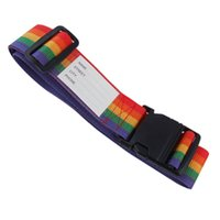 adjustable side release buckle - Good Deal Side Release Buckle RaInbow Style Adjustable Nylon Suitcase Belt