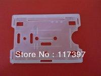 badge holders hard plastic - Wholesales Rigid Hard Plastic Horizontal Vertical ID Badge Holders Q25
