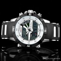Precio de Gifts-Navidad WEIDE regalo de lujo de la marca de los hombres reloj deportivo 3ATM impermeable multifunción de cuarzo relojes militares de luz de fondo LED Digital