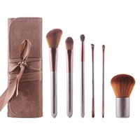 Wholesale 6pcs Soft Synthetic Hair Travel Makeup Brush Set Cosmetic set for Fashion MAS_20B