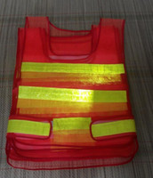 Wholesale Low cost sale reflective safety vest reflective warning vests PVC reflective tape mesh fabric vest