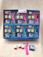 Wholesale Box sets Frozen stamper set Snow Queen Elsa Figures Seal Seal stamp And Ink Pad Educational toys Children roller seal