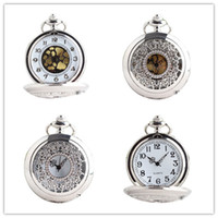 mens pocket watches - Fashion Silver Flower Quartz Luxury Pocket Watch Analog Pendant Necklace Mens Womens watches Popular Gift P233S