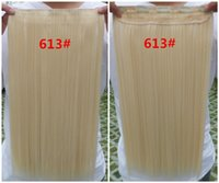 Cheap Straight One Piece Clip In Hair Extension,Color 613 Blonde 100% Silky Remy Clip-on Human Hair Sew-in Weaves,Top-up Brazilian Virgin Clip Ins