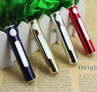 airline cigarette lighters - 1509 High Quality Metal Shell Mini Electronic Lighter Cigarette Portable USB Lighter Rechargeable Flameless Airline lighter