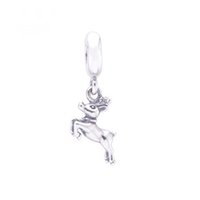 halloween charms - New Halloween Sterling Silver Original Screw Thread LW396 Running Deer Pendant Animal Dangle Charm Fits European diy Charm Bracelets