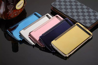 a910 - Mirror View Flip Case Electroplate Wallet Leather Pouch Metal Bag For LG V10 G4 Pro Samsung galaxy A510 A710 A910 A5 A7 A9 Skin Fashion