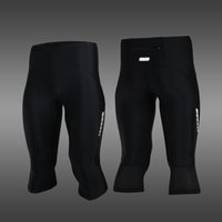 Wholesale ARSUXEO Bicycle Pants Stretch Breathable Quick Drying Compression Shorts Men s Cycling Running Tights Shorts Length Pants