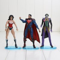 action figures justice league - 3pcs set DC Action Figure Toys Justice League Superman The Joker Wonder Woman cm Action Figures PVC brinquedos Collection Figures toys