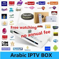 Wholesale 2014 no monthly fee payment Arabic Iptv Box HD Android tv box Wifi receiver tv MBC channel bein sport channels