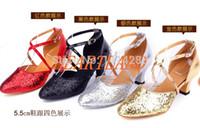 ballroom dance shoes - colours lady ballroom latin rumba samba tango dance shoes women gold silver shoes cm high heeled h