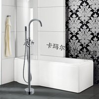 bath furniture bathroom - Modern Round Floor Standing Bathtubs Faucets with Spray Water Mixers Bath Crock Tap Sauna Room Sets Spa Tub Furniture Bathroom Shower Sets