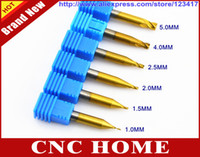 Wholesale Full Set mm mm mm mm mm mm HSS Titanium End Mill Milling Key Cutter For Cutting Machine Locksmith Tool Supplies