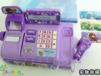 Wholesale 2015 new baby boys girls Frozen Cash Register Elsa Anna Pretend Play Furniture Toys Educational Interactive toys M166