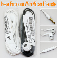 Wholesale Earphone In Ear Stereo mm Headphones Headset with Mic and Remote for Samsung for MP3
