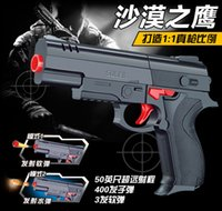 Wholesale 2016 Sale High Quality Desert Eagle Nerf Airsoft gun Airgun Soft Bullet Gun Paintball Pistol Toy Cs Game Shooting Water Crystal