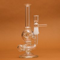 Wholesale Glass Water Percolator Smoking Pipe Honeycomb Disk Bong With Arm Perc Two Functions Different styles and colors Assorted