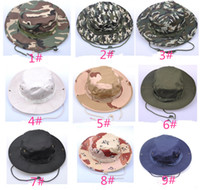 Wholesale New Fashion Combat Camo Ripstop Army Military Boonie Bush Jungle Sun Hat Cap Hiking For Men Women Fishing A76
