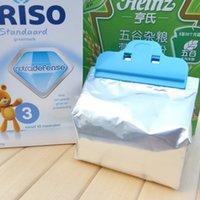 Bolso Envío gratis Cocina herramienta Alimentos bolsa de leche en polvo clips de sellado 10 * 5cm 20 pedazos / porción alta calidad
