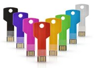 key shape usb flash drive - USB Key shape GB GB GB GB metal usb flash drive pen drive pendrive U disk Thumb memory stick multiple colours