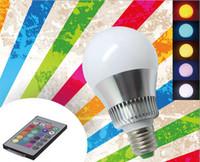 Wholesale E27 W RGB Big Ball LED Bulb Lamp Key Color Remote Control V V Memory Function