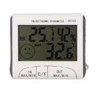 Wholesale Temperature Humidity LCD Digital Thermometer Hygrometer Meter w Wired External Sensor DC103