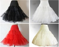 accessories short skirts - A variety of colors Knee Length Skirt Slips Petticoat Crinoline Underskirt Pannier Organza Bridal Accessories Hot sale