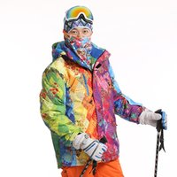Wholesale Dropshipping new Brand snow jacket waterproof windproof thermal coat hiking camping cycling jacket winter ski jacket men