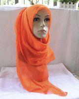 arabic head scarf - Emmani In Stock Colorful Silk like Shiny Bridal Muslim veil Hijab Arabic Dubai Women Head Scarfs Turban Lavender Blue Muslim Wedding Veils