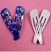 Wholesale Ice And Snow Country Fashion Cartoon Characters Hair Hairpin Children Lacquer That Bake Hairpin Doll Accessories Christmas Hairpin Kids Girl