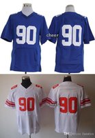 baseballs pierre - Newest Men s New York G Pierre Paul White Blue Elite Jerseys Football Jerseys Good quality