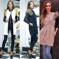 Wholesale FG1509 Office Lady Oversize Warmer Vest Coat Faux Fur Waistcoat Gilet Sleeveless Jacket Outwear Elegant Women Autumn Fall Winter Outfit
