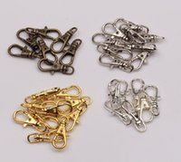 Clasps & Hooks ancient bronzes - Hot New Lobster Swivel Clasp For Key Ring x23mm Plated Gold Silver Tibetan Silver Ancient Bronze