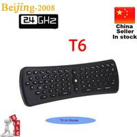 T6 gros 2.4GHz Mini Wifi Fly Air Mouse 6 Axe Gyroscope Air Mouse Wireless Keyboard Remote Control 002961