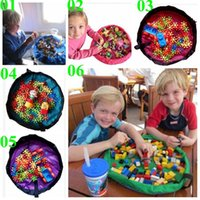 beach storage - 2015 color baby cm play mat toy storage bag Beach storage bag picnic toys storage bag Blanket Rug Boxes Lego Toys Organizer TOPB3677