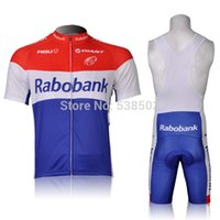 agu cycling - AGU Rabobank Team Giant Cycling Jersey and Cycling Bib Shorts Kit Summer Cycling Clothing Size S XL