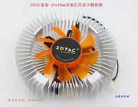aluminum hole plug - New Original for ZOTAC x43mm plug mounting holes copper VGA cooler fan with heat sink