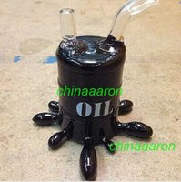 drum - black glass bong oil drum rig clean glass oil pipe glass oil rig recycle glass water pipes mini rig smoking glass pipes Interface mm