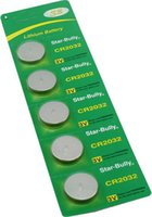 cr2032 button battery - 5pcs high quality CR2032 CR Lithium Button Coin Batteries button cell battery V