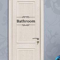 art glass doors - Toilet Bathroom Wall Art Murals Sticker WC Door Decoration wallpaper Posters Fashionable Restroom Door Decal Decor Sticker