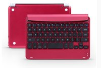Wholesale For ipad mini retina Aluminum bluetooth keyboard case cover with stand wireless keyboard cases tablet pc