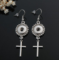 Wholesale Popular Accessories NOSA Earrings Fitting Alternatively Fashion Alloy DIY Earring NOOSA earrings Fitting mm Button J775