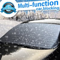 Wholesale Hippo Multi funtion CAR Snow Cover Frost Blocking Sunlight Max Reflect Windshield Sunshade Picnic Nap Nylon Material Innovative Shape